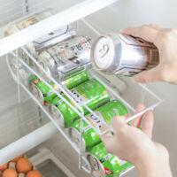 Refrigerator Double Cans Storage Rack Finishing Rack Kitchen Desktop Rack