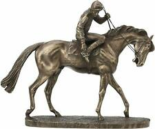 On Parade Resin Bronze Horse Racing Sculpture Gift