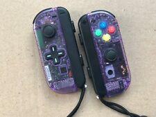 Nintendo Switch Custom Joy Con Controller Joy-Cons Atomic Purple D-PAD W/ STRAPS