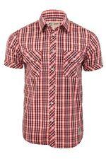 Camicie casual da uomo a manica corta rosso