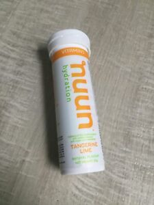 nuun Electrolyte Hydration 12 Tablets RRP£9 Tangerine Lime Vitamins DateAug20