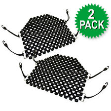 Zento Deals 2Pk. Beaded Wooden Car Motorcycle Massaging Seat Cover Cushion Pad