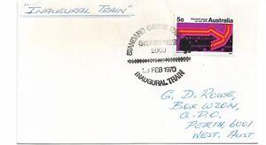 1970 Standard Gauge Inaugural Train Special Postmark Pictor Marks PM 287 (4)