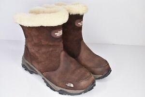 The North Face Primaloft Brown Waterproof Winter Boots Suede Women's 7 Fleece