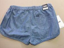 106 WOMENS NWT LEE RUNNING BLUE WASH CHEEKY SHORTS SZE 14 $70 RRP.