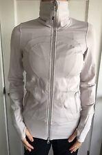Lululemon Size 4 In Stride Zip Up Jacket Pink Oatmeal Gray Define Coat Run &go