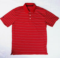 Brooks Brothers Performance Series Shirt Golf Polo Red Striped Mens Medium