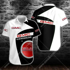 GMC Car, Racing - Men's 3D HAWAII SHIRT Button Up Short Sleeve Size S to 5XL