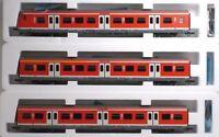 ROCO 45297/8/9 DB Pilota + 2 Carrozze S-Bahn/Regionalbahn Ep V SET Completo
