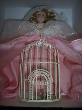 Dillard's Trimmings Vintage Christmas Bird Cage Body Porcelain Doll (Very Rare)