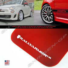 Rally Armor UR Red Mud Flaps w/ White Logo for 2012-2018 Fiat 500 Hatchback