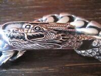 ultra-fettes Herren Armband Drache 925er Silber massiv 121 Gramm NEU 23 cm lang