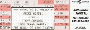 1994 Andre Agassi Vs Jimmy Connors Lot Of 7 Items All Access Pass - Photos Rare