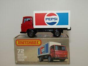 "Matchbox Superfast No 72 Dodge Delivery Truck Rarer ""LIGHT BLUE"" Glass VNMIB"