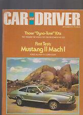 Car & Driver Magazine September 1973 Mustang II Mach I Camaro BMW