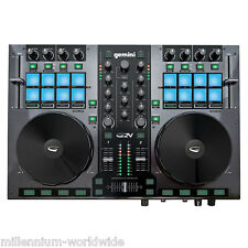 GEMINI G2V - 2 CHANNEL DJ MIDI CONTROLLER - MAC, PC, TRAKTOR / Authorized Dealer