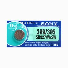 1 x Genuine SONY 395 SR927SW SR57 Watch Battery Silver Oxide 0% Mercury