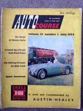 Revista Curso automático de mayo de 1954 Vol. IV Nº 1 Motor Racing revisión Monte Carlo Rally