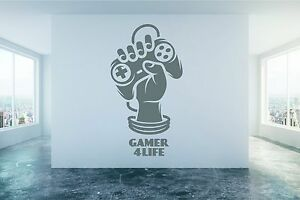 Gamer 4 Life quote computer cosole Playstation, PS4 Xbox Wii, Wall Sticker Decal