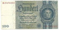 WW2 ORIGINAL NAZI Germany Third Reichs Banknote 100 Reichsmark 1935/M
