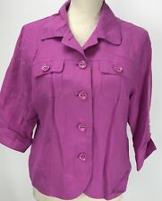East 5th Women's Jacket Magenta Size PL Retro Style Business Career Blazer