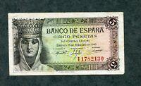 BILLETE 5 PESETAS 1943 SERIE  I1782130   EBC  -