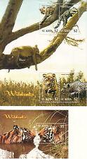 St.Kitts Wildkatzen Wild Cats 2005 Mi#838-841 Bl#68 Großbrief!