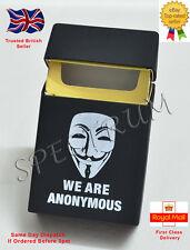 "Silicone Cigarette Case/Cover Black ""Anonymous"" Logo (Same Day Dispatch)"