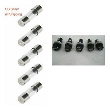 5PCS Chassis Panel Mount Fuse Holder Socket 5x20mm Glass Fuses 250V 10A Included