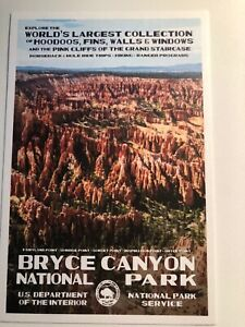 Bryce Canyon National Park WPA Style Art Postcard New