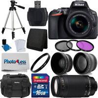 Nikon D5600 Digital Camera + 18-55mm VR + 70-300mm + Top Value Accessory Bundle