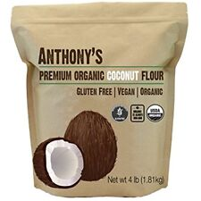 Organic Coconut Categories Flour (4 Lb) By Anthony's, Verified Gluten-Free,