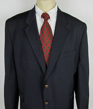 Mens Kilburne and Finch Blazer Sport coat metal two buttons Navy Blue Size 50 R