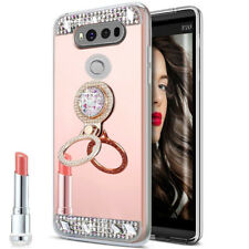Mirror Bling Diamond Ring Holder Case For LG G7 G6 G5 V30 V20 V10 Crystal Cover
