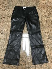 Christian Dior Boutique by John Galliano Black Leather Pants