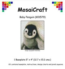 MosaiCraft Pixel Mosaic Art Kit 'Baby Penguin' Pixelhobby like Paint by Numbers