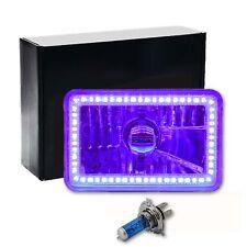 "4X6"" Purple SMD LED Halo Crystal Glass/Metal Headlight Light Bulb Headlamp: EACH"