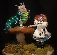 OOAK Figurative Dollhouse Miniature Alice Set by Esther  PDMAG IADR ODACA Artist