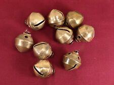 Antique Brass Petal Sleigh Bells Lot of 9