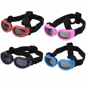 XS Small Dog Goggles Dog Sunglasses Waterproof Windproof UV Protection Pink Blue