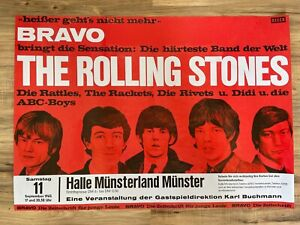 The Rolling Stones First Concert in Germany Muenster 1965 Tour Poster