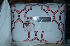 Charter Club Damask Design Doble Ogee 300Tc White/Red Twin Comforter Set Nip