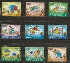 Anguilla, Scott 492-500 World Cup complete Disney set MH
