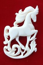 Unicorn Russian Art Jewelry Hand Carved Unicorn Broach Pin Vintage Style USA
