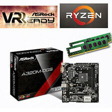 Bundle AMD Ryzen5 1600 6x3,60GHz+16GB DDR4 PC2400+ASRock A320M-DGS USB3.0