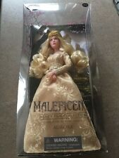 NEW Disney Store AURORA DOLL Maleficent Film Collection gold dress Princess