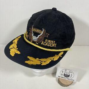 Vintage Commander United States Military Academy Black Trucker Snapback Hat