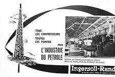 PARIS RUE DE LONDRES COMPRESSEURS POMPES INGERSOLL-RAND PUBLICITE 1955