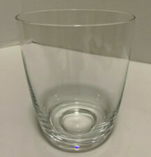 """Rare Lenox Oxygen Clear 4 1/4"""" Glass Double Old Fashioned Highball"""