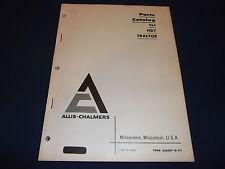 Allis Chalmers Hd7 Crawler Tractor Dozer Parts Manual Book Catalog
